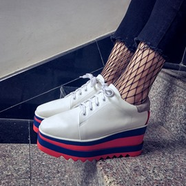 Ericdress Color Block Low-Cut Platform Women's Sneakers