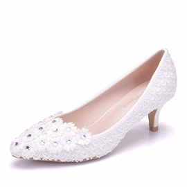 Ericdress Rhinestone Plain Slip-On Stiletto Heel Wedding Shoes