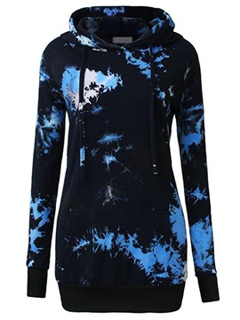 Ericdress Print Slim Mid-Length Cool Hoodie