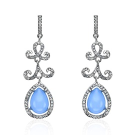 Ericdress Royal Style Diamante Pendant Earring for Women