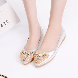 Ericdress Rhinestone Animal Slip-On Women's Flats