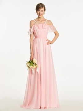 Ericdress Spaghetti Straps A Line Long Bridesmaid Dress