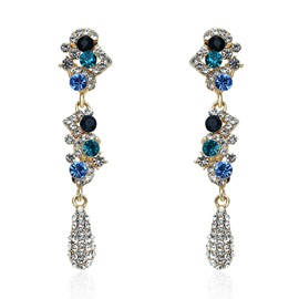 Ericdress Colorful Rhinestone Long Earring for Women