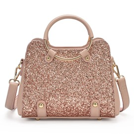 Ericdress Shining Sequins Circular Ring Handle Crossbody Bag