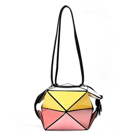 Ericdress Cool Geometric Color Block Crossbody Bag