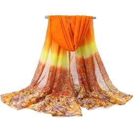 Ericdress Voile Flower Printed Scarf for Women
