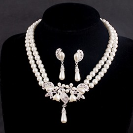 Ericdress Pearl Inlaid Earrings Wedding Jewelry Sets