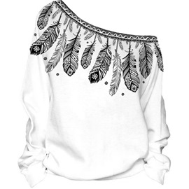 Ericdress Loose Plant Oblique Collar Cool Hoodie