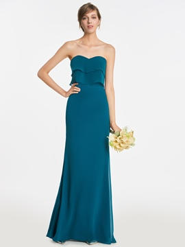 Ericdress Sweetheart Sheath Long Bridesmaid Dress