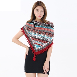 Ericdress Amazing Tassel Cotton National Style Women's Scarf