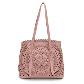 Ericdress Personality Hollowed Out Rivet Design Tote Bag