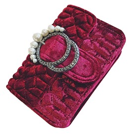 Ericdress Retro Velvet Pearl Adornment Clutch