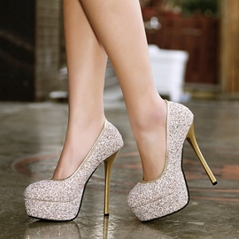 Ericdress Glitter Sequin Platform Stiletto Heel Pumps