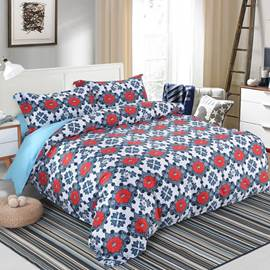 Cotton Machine Wash Style Duvet Cover Set Four-Piece Set