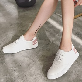 Ericdress Color Block Platform Lace-Up Women's Flats