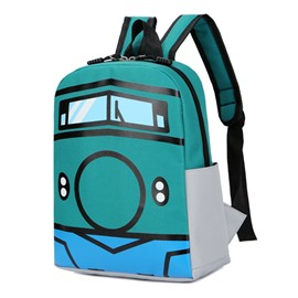 Ericdress Cartoon Locomotive Printing Children Backpack