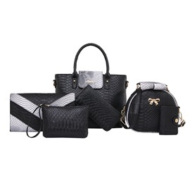 Ericdress Classic Serpentine Zipper Handbag ( 6 Bag Set)