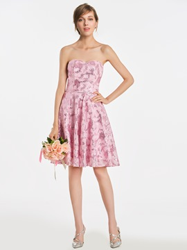 Ericdress Sweetheart A Line Sequins Short Bridesmaid Dress
