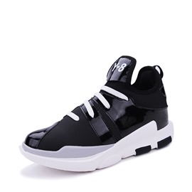 Ericdress Plain Mid-Cut Patchwork Men's Athletic Shoes
