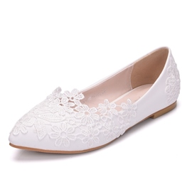 Ericdress Simple Appliques Slip-On Wedding Shoes