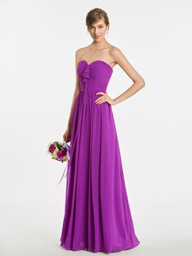 Ericdress Sweetheart A Line Long Bridesmaid Dress
