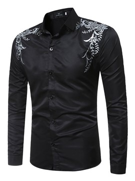 Ericdress Casual Long Sleeve Print Men's Shirt