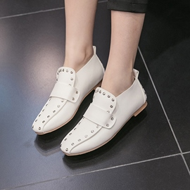 Ericdress Rivet Square Toe Plain Women's Flats
