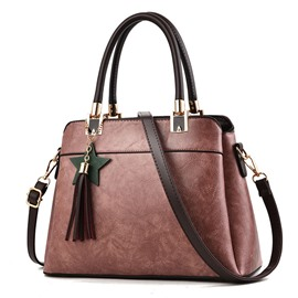 Ericdress Well-Match Solid Color Tassel Women Handbag