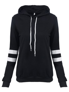 Ericdress Stripe Slim Hooded Cool Hoodie