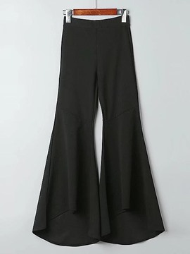 Ericdress Pocket Bellbottoms Lace-Up Pants