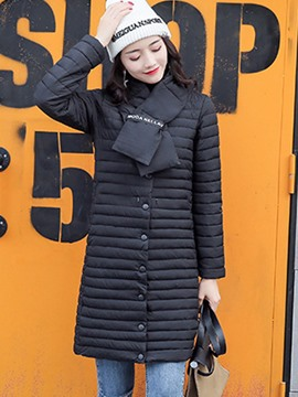 Ericdress Mid-Length Fur Collar Down Coat