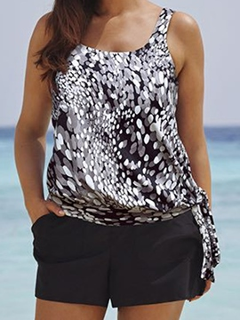 Ericdress U-Neck Digital Print Tankini Set