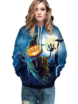 Ericdress Halloween Loose Pumpkin Lantern Cool Hoodie