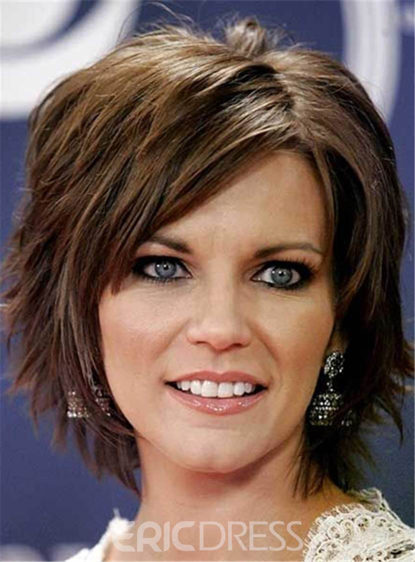 Ericdress Short Layered Straight Messy Synthetic Hair Capless Women Wig 8 Inches 12991339