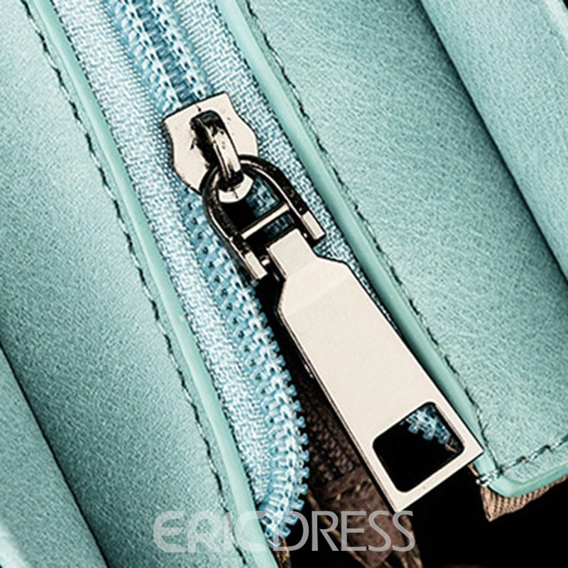 Erircdress Candy Color Latch Mini Crossbody Bag