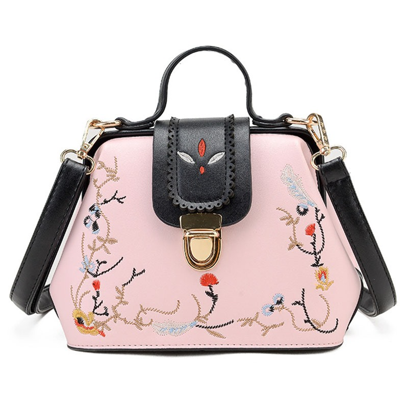 Ericdress Trendy Floral Embroidery Crossbody Bag