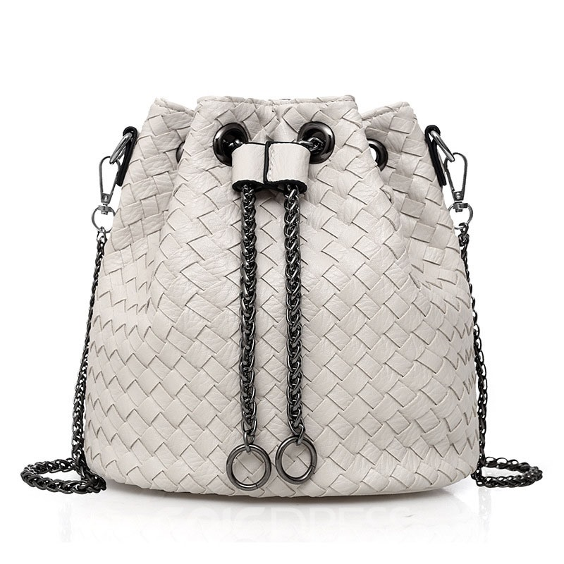 Ericdress Stylish Knitted Pattern Bucket Crossbdoy Bag
