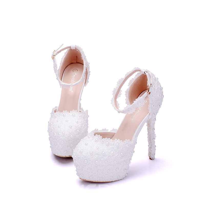 Ericdress Appliques Platform Stiletto Heel Wedding Shoes with Buckle