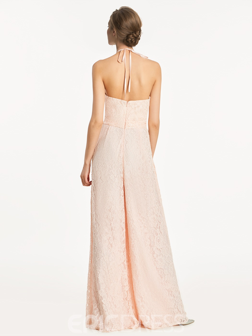 Ericdress Halter Lace Long Bridesmaid Jumpsuit