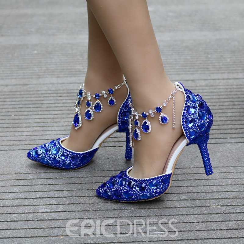Ericdress Elegant Rhinestone Plain Wedding Shoes with Beads