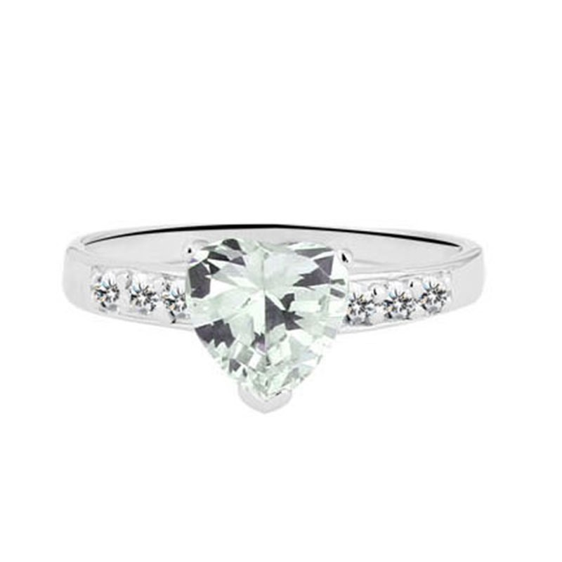 MarkChic Heart Cut Pave Setting Women's Wedding Ring