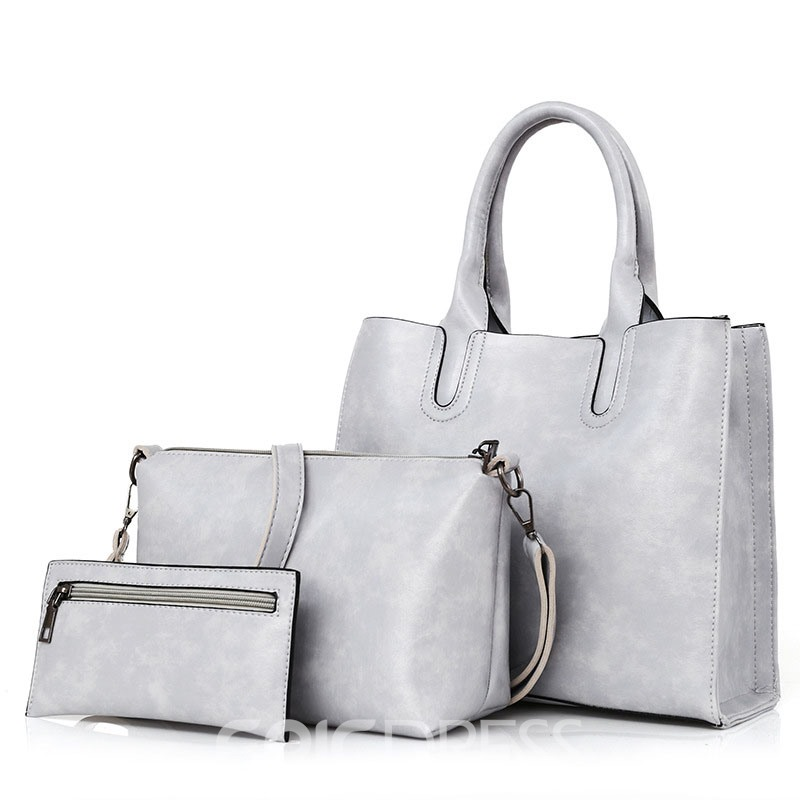 Ericdress Casual High-Capacity Solid Color Handbag