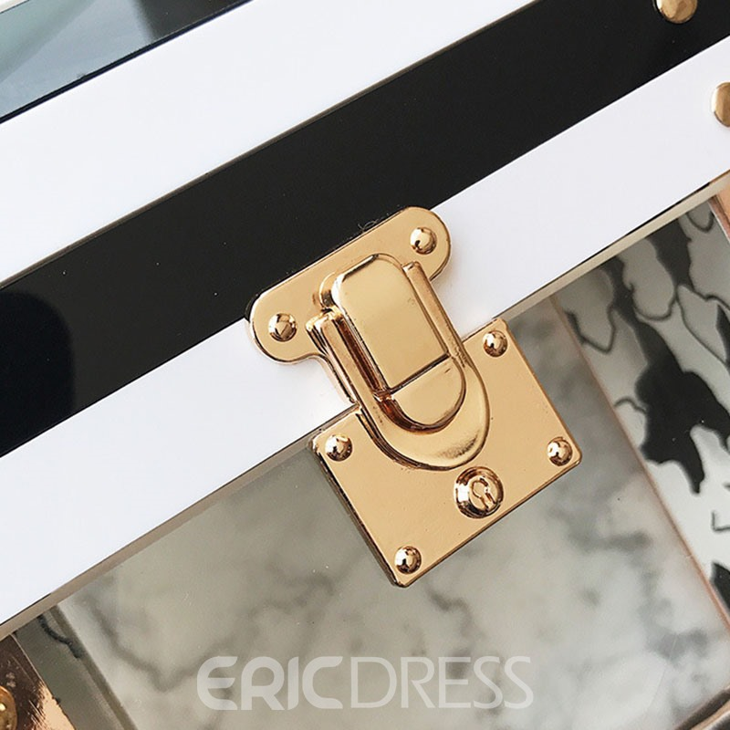 Ericdress Korean Style Box Shape Patchwork Crossbody