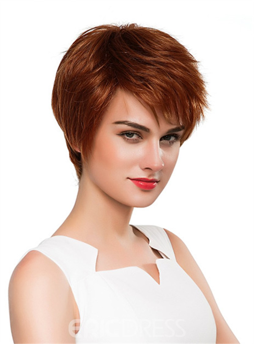 Ericdress Short Straight Boy Human Hair Capless Wig 10 Inches