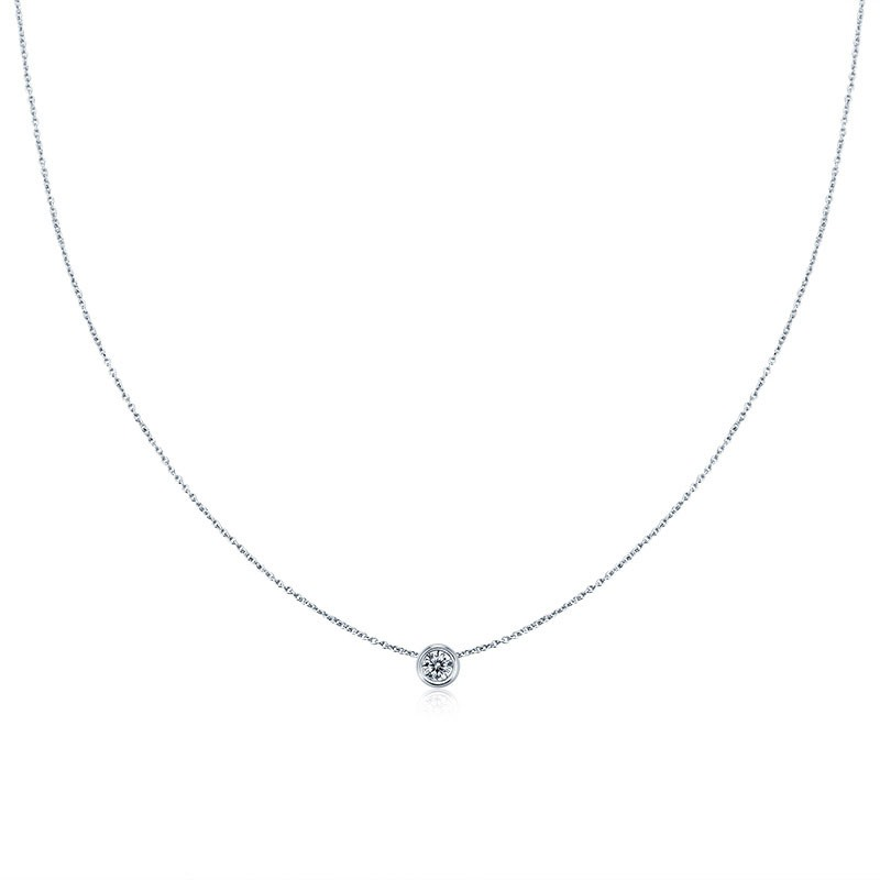 MarkChic Classic S925 Sterling Silver Concise Women's Necklace