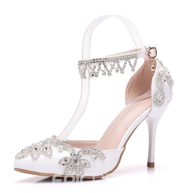 Ericdress Rhinestone Low-Cut Stiletto Heel Wedding Shoes with Buckle