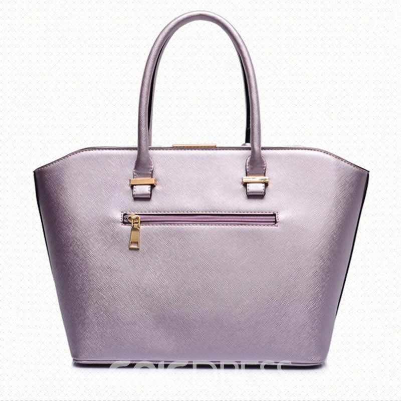Ericdress Large Capacity Solid Color Female Handbag