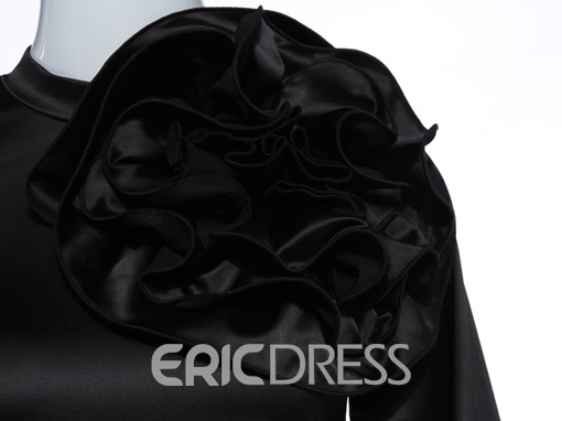 Ericdress Applique Slim Lantern Sleeve Velvet Blouse