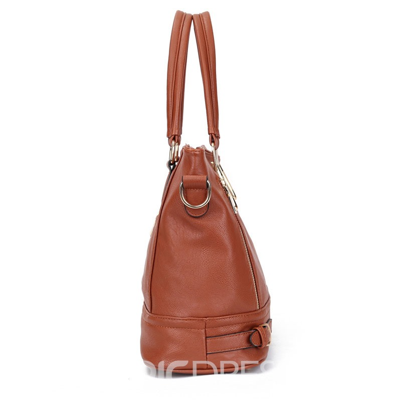 Ericdress Casual Double Zipper Design Women Tote