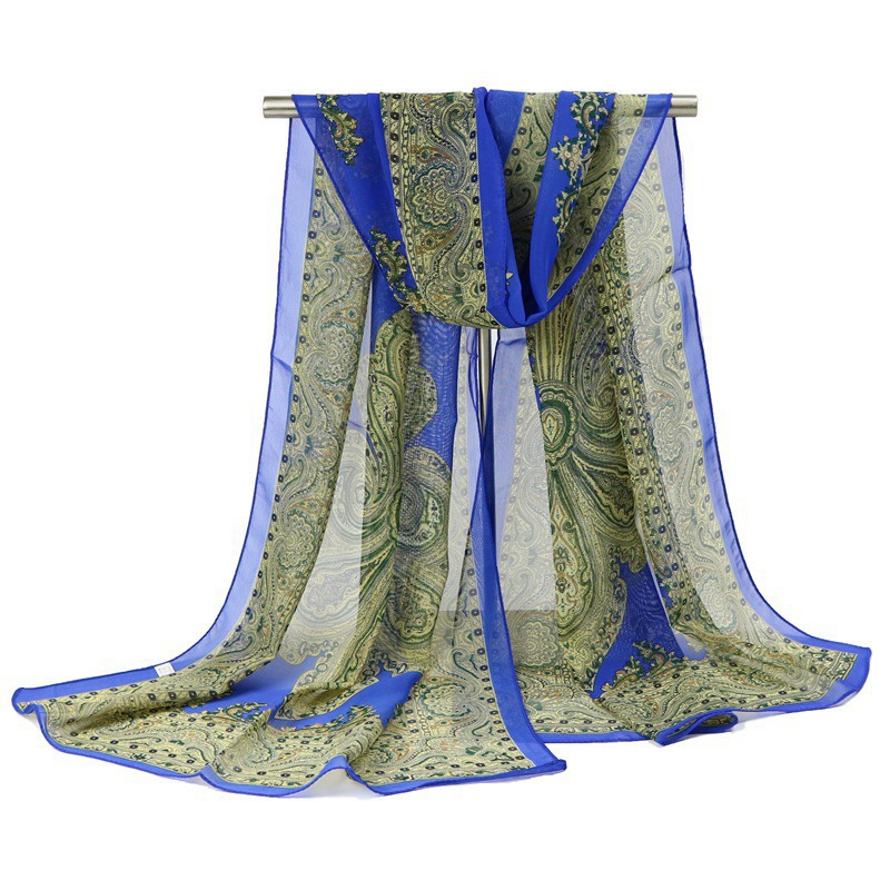 Ericdress National Style Blue and White Porcelain Scarf for Gift